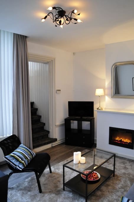 Living room with ambience firebox