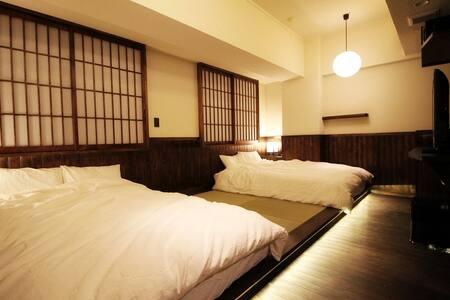 Japanese Room with 2 double beds near Subway - Ōsaka-shi