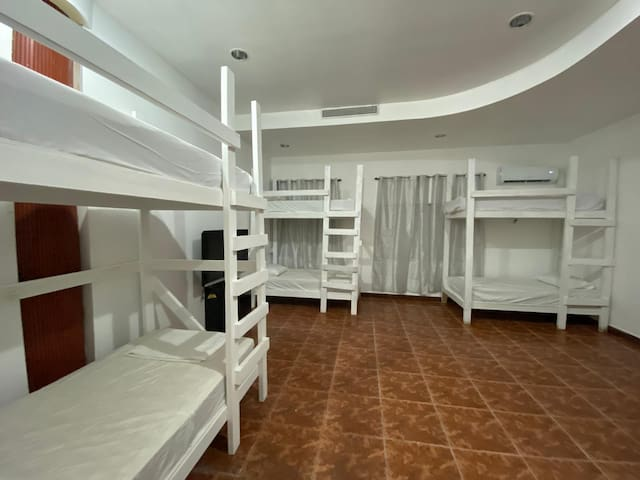Hostel PR - Shared Mixed Bedroom Bunk Bed #6A
