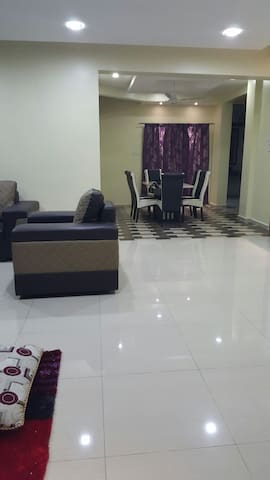 Spacious dining and living areas