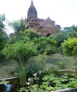 Bagan private house garden temple riverside pool