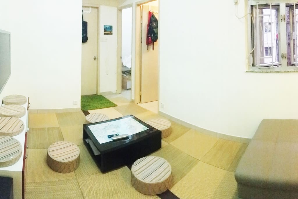 Your room is right side of back. front Room is my room. お部屋は右奥の部屋になります。手前の部屋は私の部屋です。