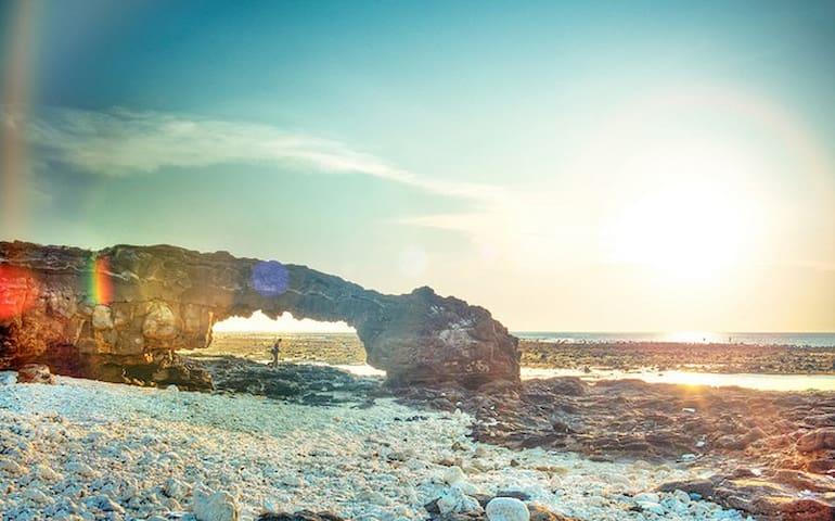 Waterfall, temple, beach, island - tp. Quảng Ngãi
