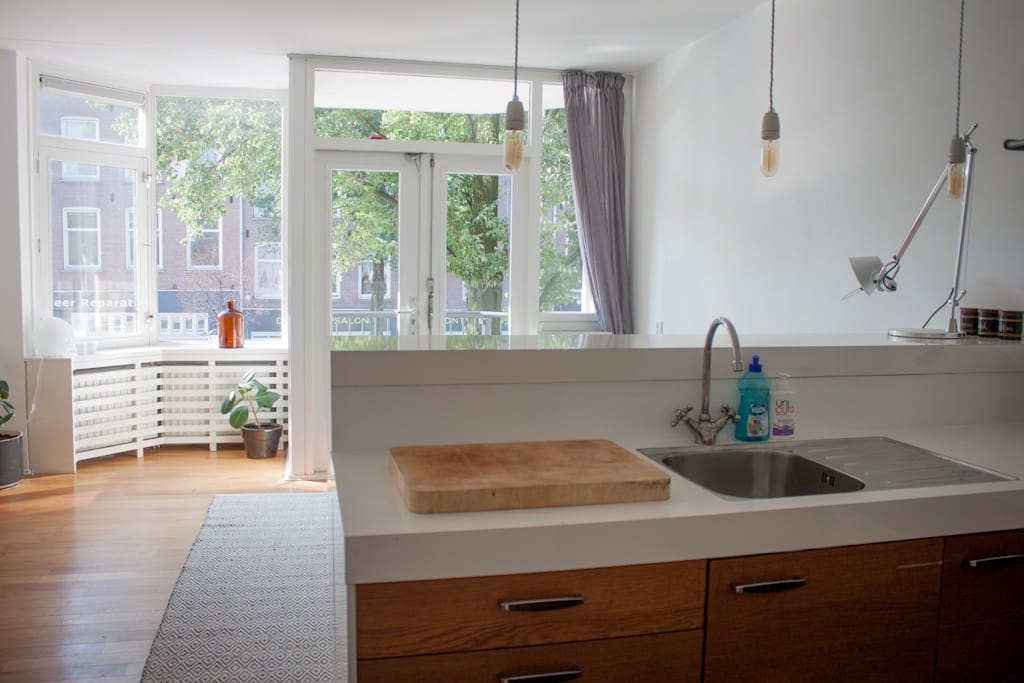 The kitchen is part of the open plan living and dining area. Fully equipped.