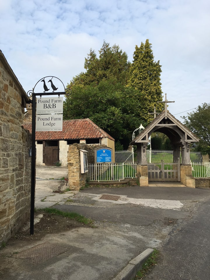 Barn conversion in quiet village