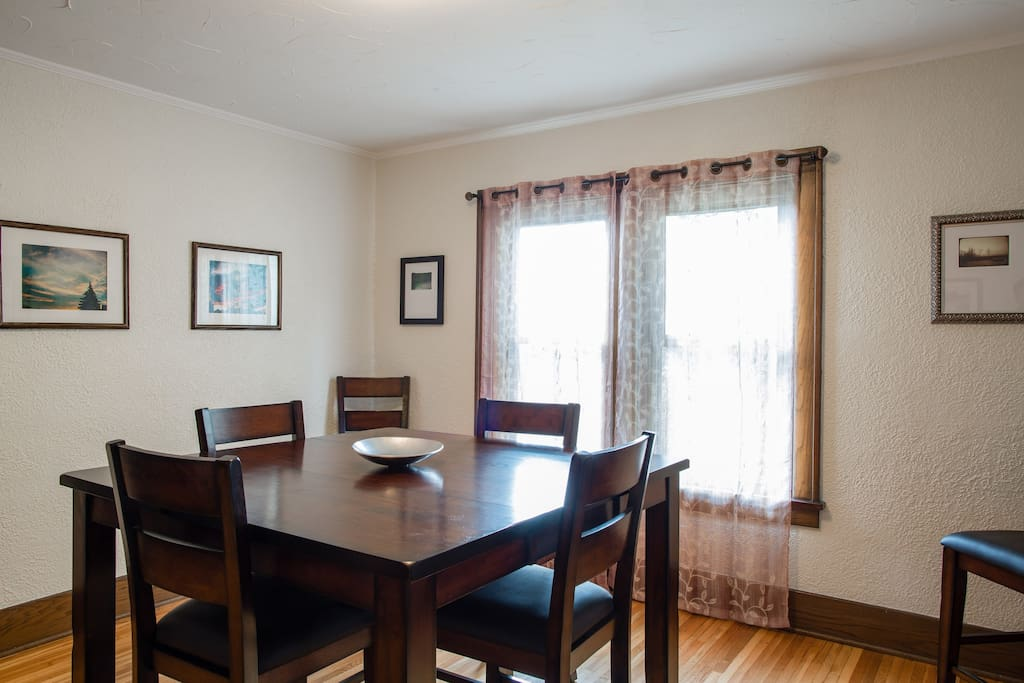 Dining Room, seats six guests.