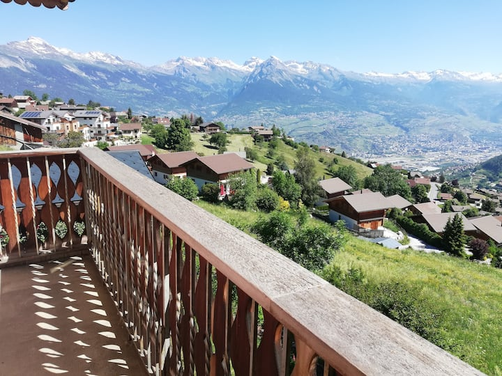 House with magnificent view - Nendaz 4 Vallees