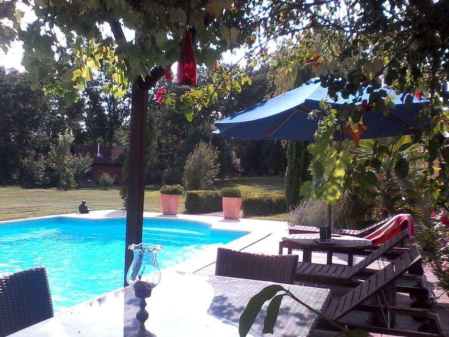 Gite du bois chalets for rent in mirande languedoc for Buthier piscine