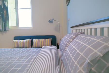 藍天兩人套房。暑假續住優惠。