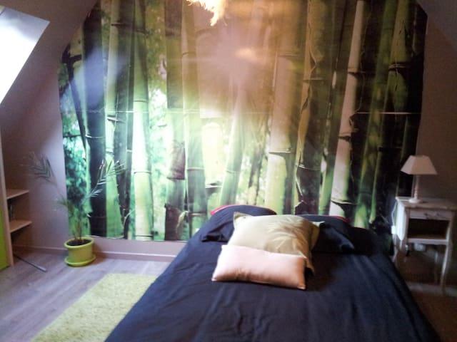 chambre avec sa salle de bain + PDJ - Gouvieux - Oda + Kahvaltı