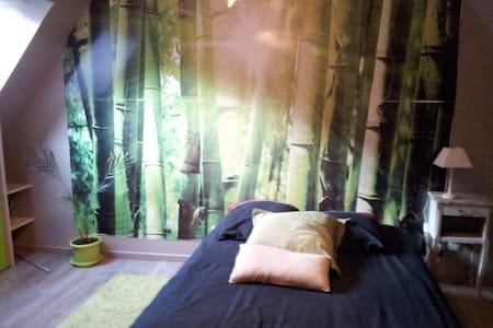 chambre avec sa salle de bain + PDJ - Gouvieux - ที่พักพร้อมอาหารเช้า