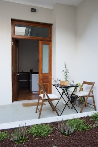 Nice studio with patio and garden in Gaia