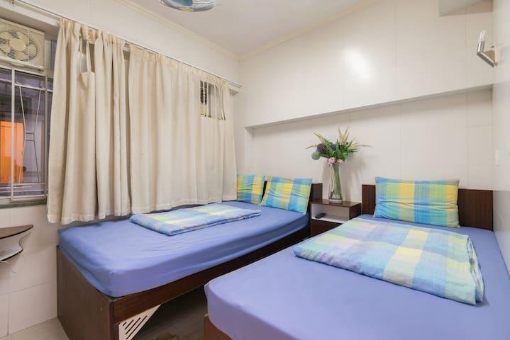 2 Beds for 3 w/ Bath, near MTR, #1