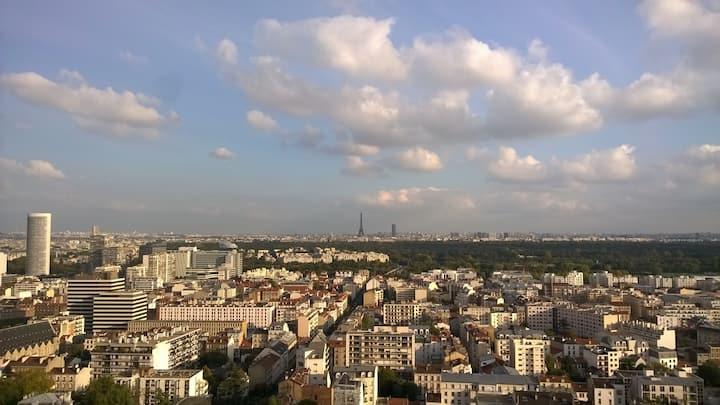 Chambre privée dans appt avec belle vue sur Paris
