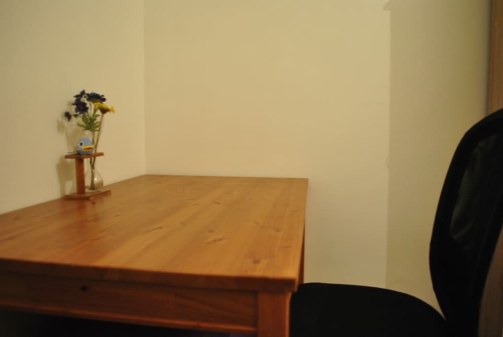 Desk in the spare private bed room