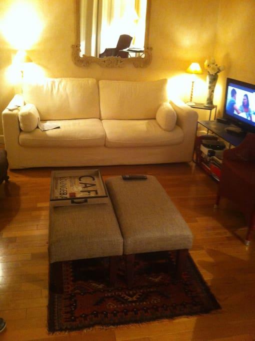 salon et canapé lit
