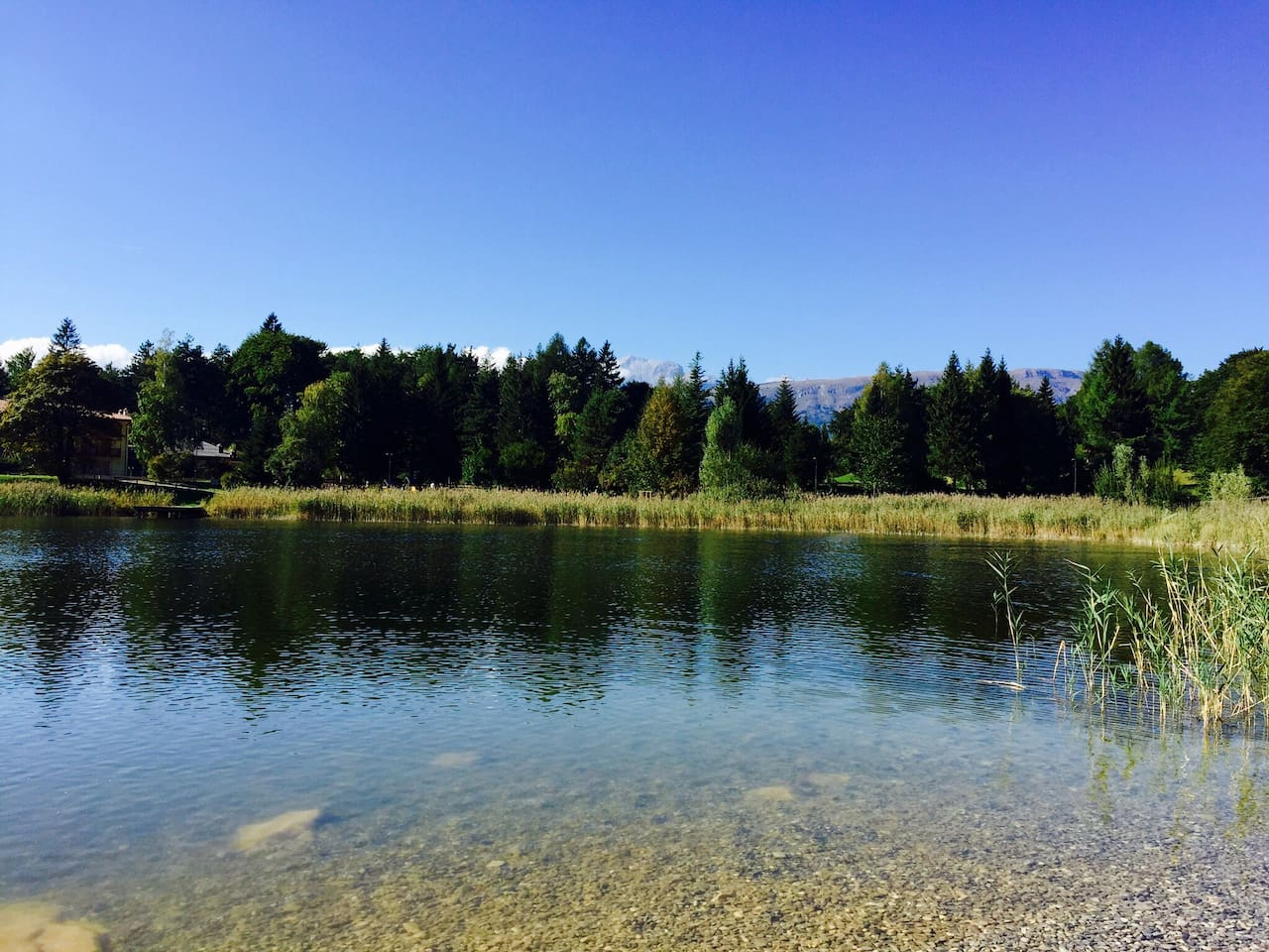Lagolo lake in the summer