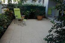 La terrasse dallée