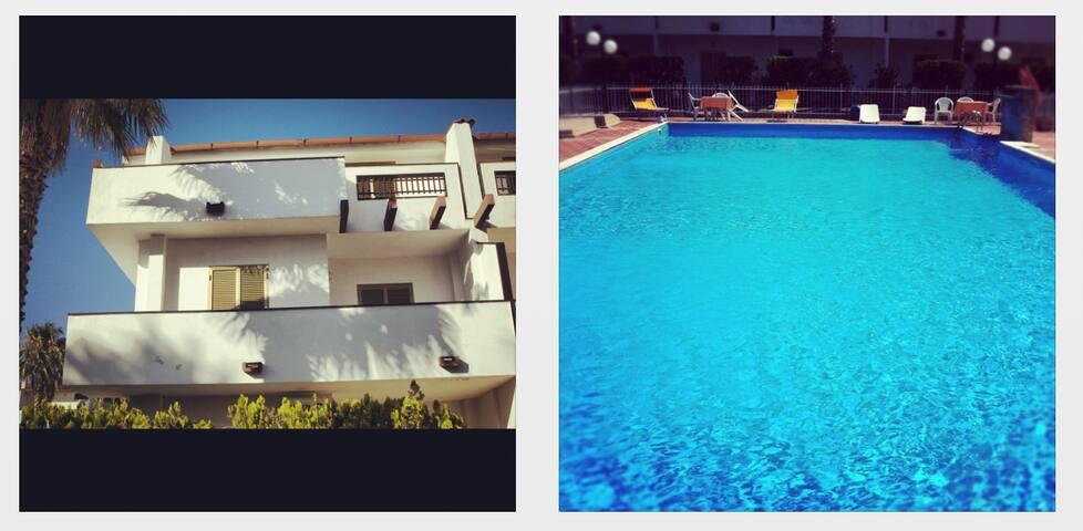 Villetta con piscina a 3 minuti a piedi dal mare