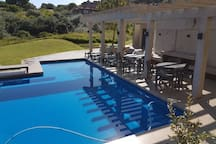Communal pool & braai facilities at Zimbali Suites