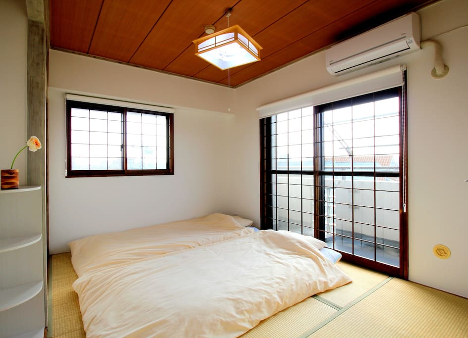 Futon on TATAMI for max 3 persons.