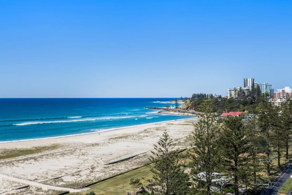 Your actual view of Coolangatta from balcony