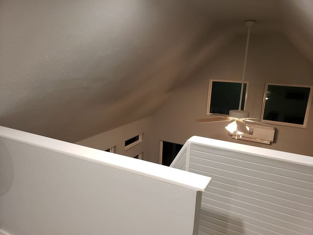 Stairs from loft to living area