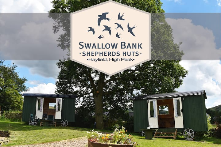 Swallow Bank Shepherds Huts, High Peak. Hut 2