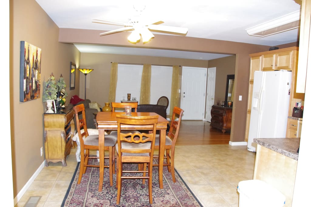 Open Kitchen, Dining and sitting room at entry