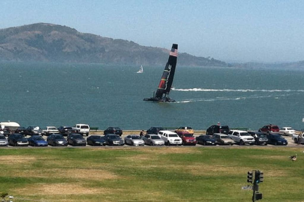 Across the street from the Marina Green; sailing regatta's nearly every weekend
