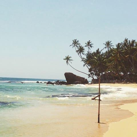 Mihiripenna Beach, an easy 2 minute tuk tuk ride away.