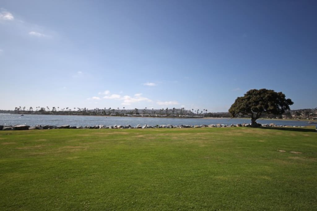 Can bike to Mission Bay Park just down the hill or ride a BIRD! Great workout!