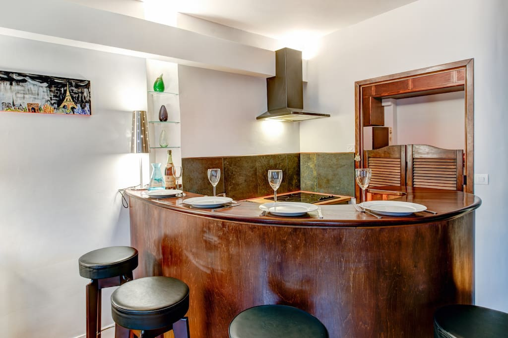 The open kitchen offering a large space for (email hidden) or enjoying cooking in front of your friends or family