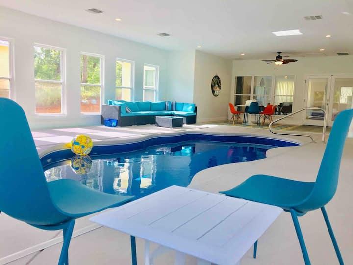Heated Indoor Pool on Five Acres of Pines