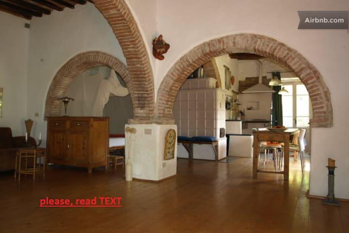 unusual rural 1-room apartm. 64 m2, pool 15 m2