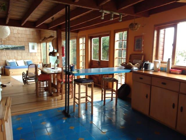 Áreas comunes: cocina, comedor, living