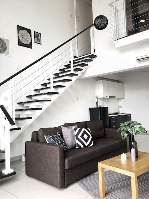 Stairs to the cozy 1 Bedroom