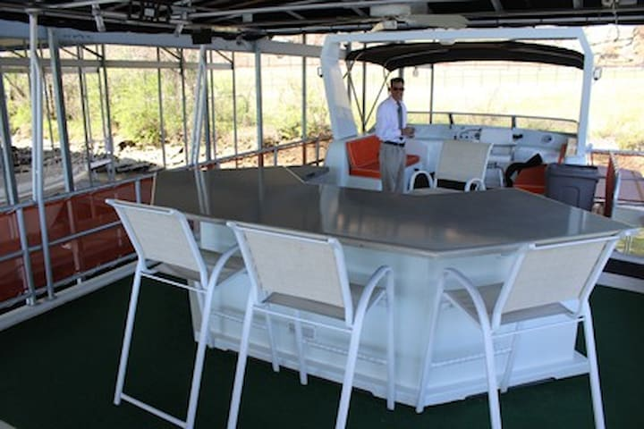 The Bar on the Party Deck.