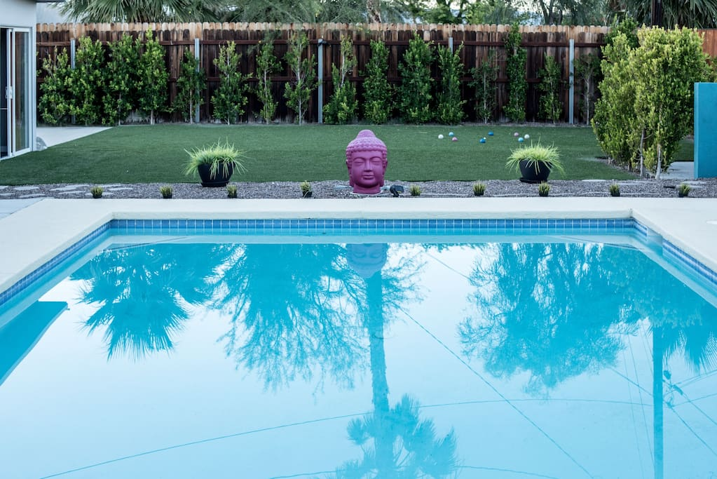 Bocce ball by the pool