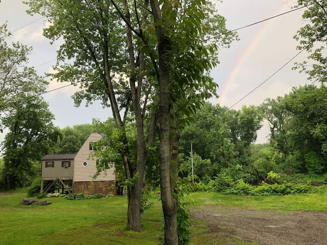 Rainbow in the east