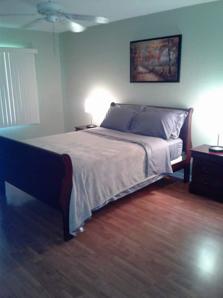 Bright Master bedroom next to Innisbrook