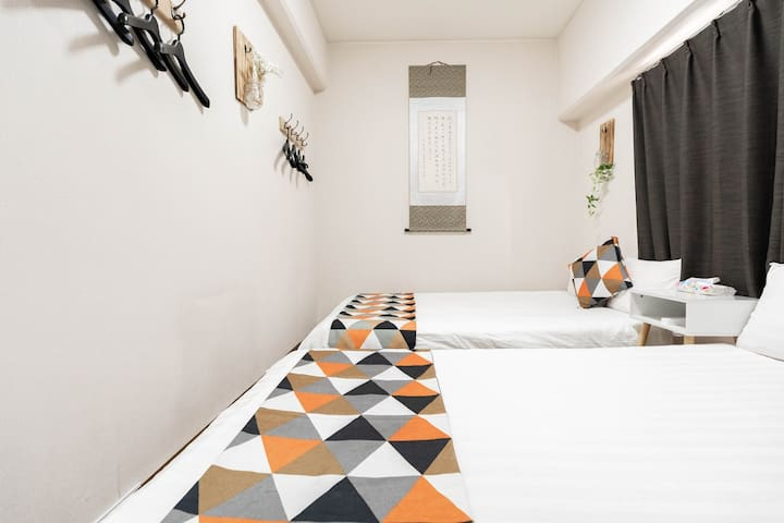 Bedroom 2: 2 semi-double beds, accommodates up to 4 persons