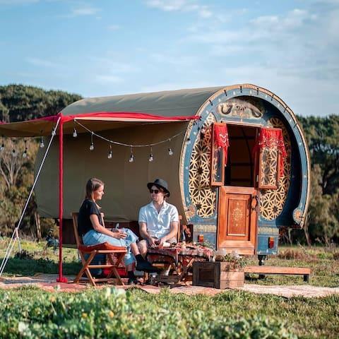 Glamping Sea Gypsy Wagon Mornington Peninsula