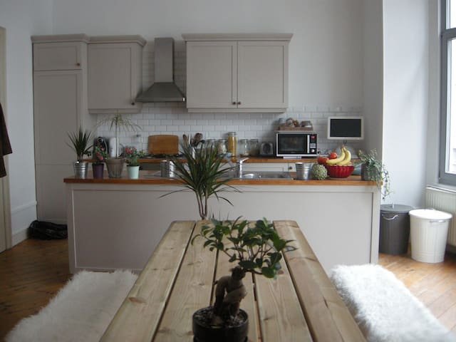 Huge and comfy flat close to everything! - Ixelles - Lejlighed