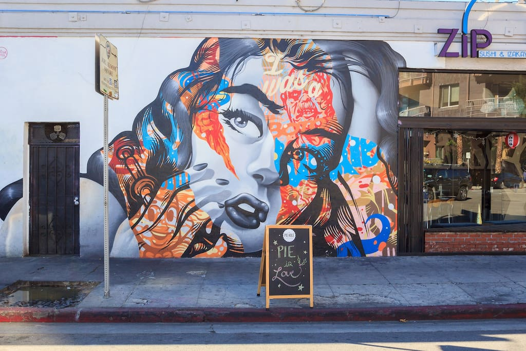 Some of the hippest coffee shops, craft cocktails, galleries and culinary culture can be found in the Arts District neighborhood - a short 8 minute walk east.