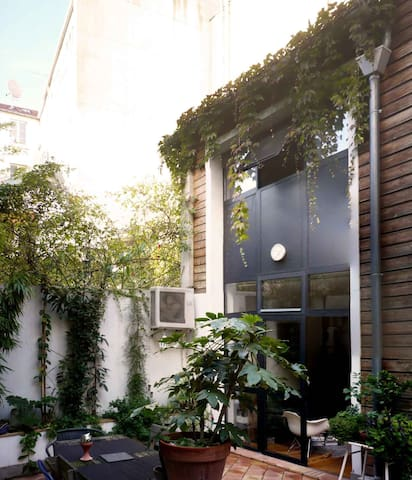 Cosy-Trendy Paris downtown architect Duplex/ house - Paris - Rumah
