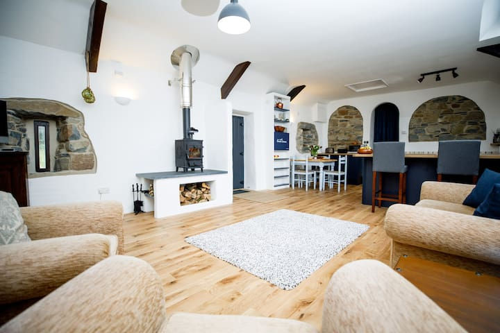 Luxury stone cottage in rural Pembrokeshire.