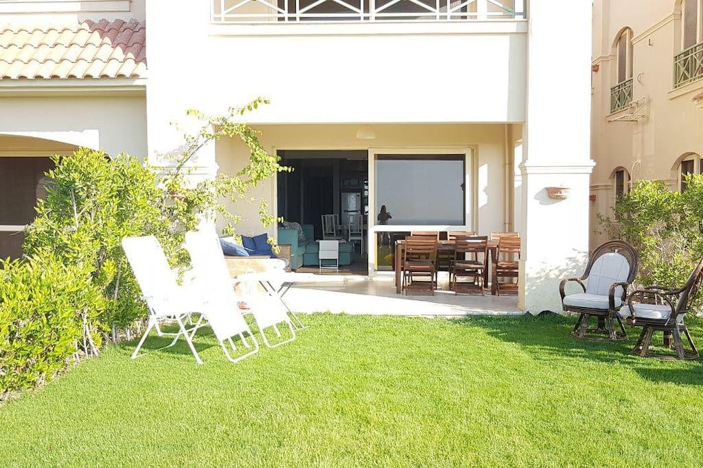 The outdoor terrace & garden