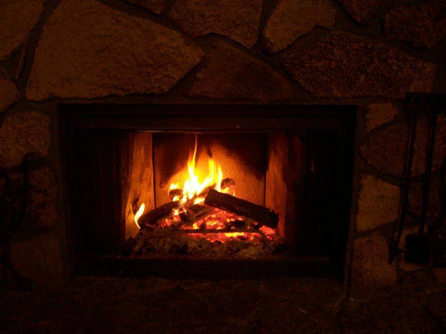 Real fireplaces are the best! Presto type logs only please.