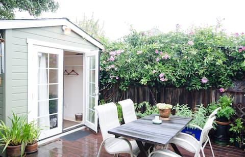 Private backyard cottage